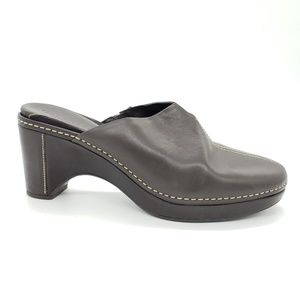 Cole Haan Country leather wedge heeled mules clogs